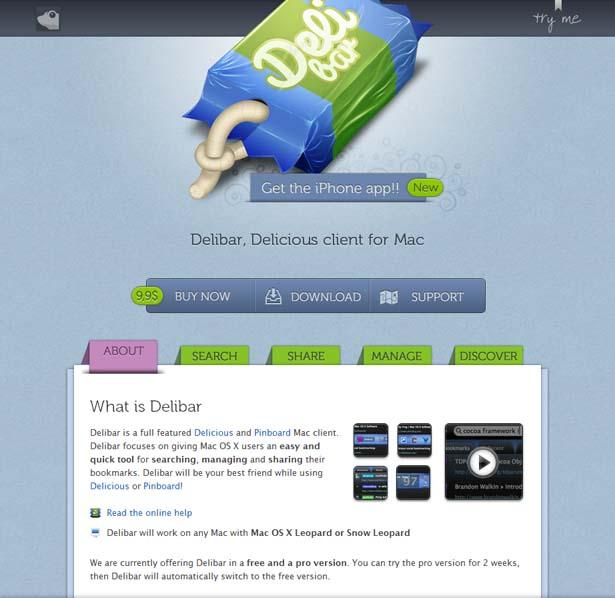 Delibar -  Delicious Mac Client