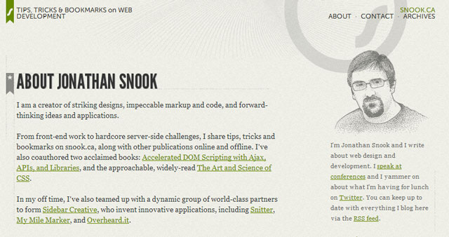 Typographic Website: Jonathan Snook