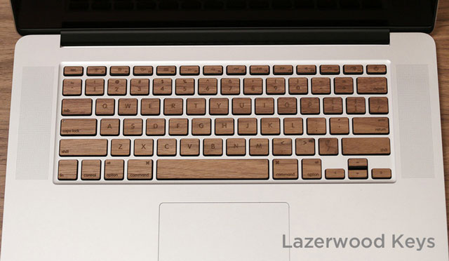 Veneer Keyboard by Lazerwood Industries