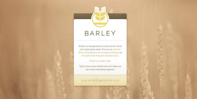 Barley CMS