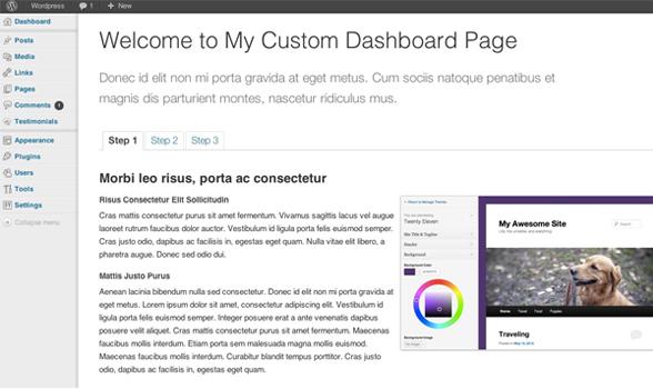 How to Create a Custom WordPress Welcome Page