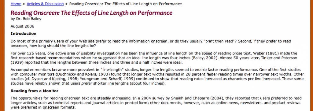 This is not an optimal line-length