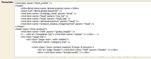 Miva Merchant: Code Editor