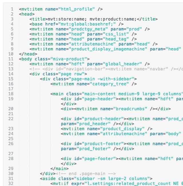 Miva Merchant: Code Editor Redesigned