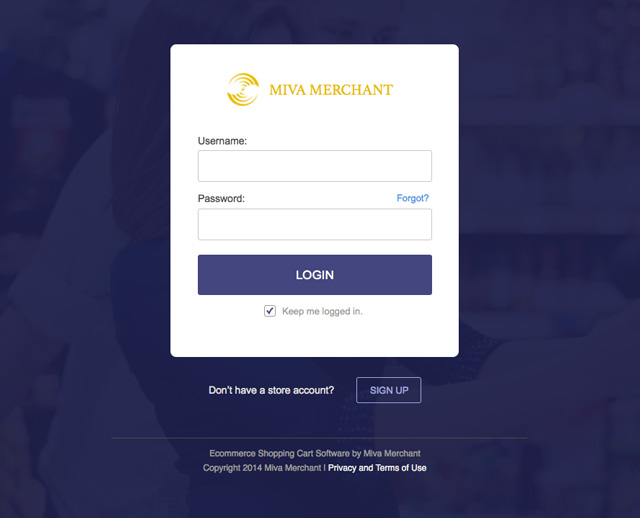 Miva Merchant: Login Redesigned 2